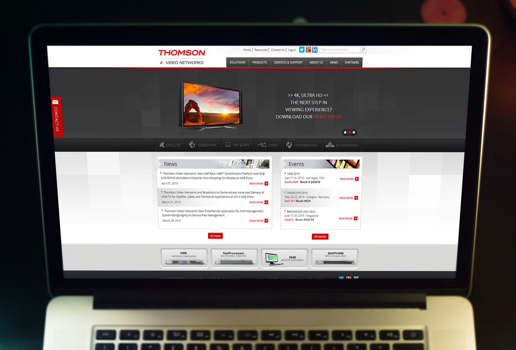 Portail Web « Thomson Networks »